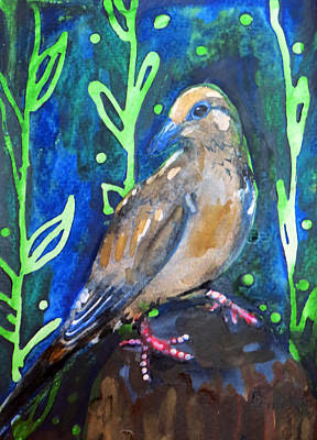 Painting - Mourning Dove by Kimbo Jackson