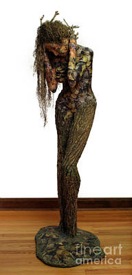 Surrealism Mixed Media Royalty Free Images - Mourning Moss a sculpture by Adam Long Royalty-Free Image by Adam Long