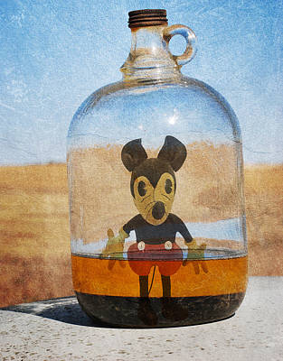 Mouse In A Bottle  Art Print by Jerry Cordeiro