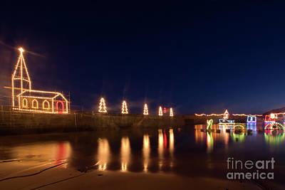 Photograph - Mousehole Christmas Lights by Terri Waters