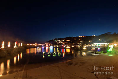 Photograph - Mousehole Harbour Christmas Lights by Terri Waters