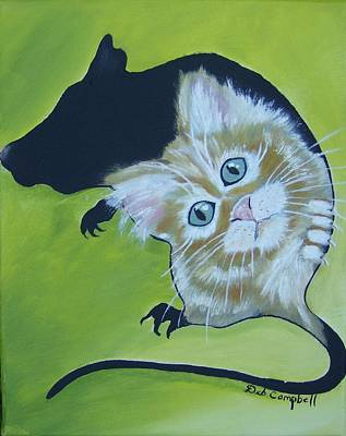 Painting - Mouser by Debra Campbell