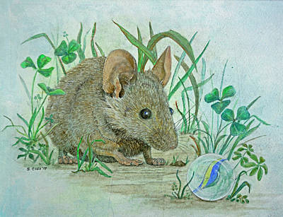 Mixed Media - Mouse's Discovery by Sandy Clift