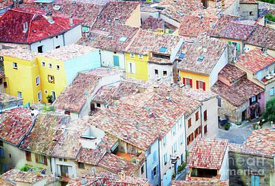 Moustiers Sainte Marie Roofs Art Print by Anastasy Yarmolovich