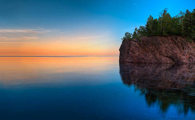 Baptism Photograph - Mouth Of The Baptism River Minnesota by Steve Gadomski