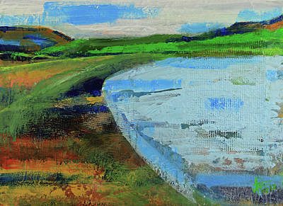 Painting - Mouth Of The Creek by Walter Fahmy