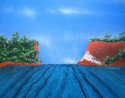 Blue Painting - Mouth Of The Hay River by Joan Stratton