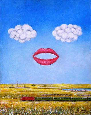 People Painting - Mouth by Rudolf  Zamazal