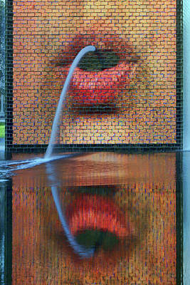 Photograph - Mouths - Crown Fountain by Nikolyn McDonald