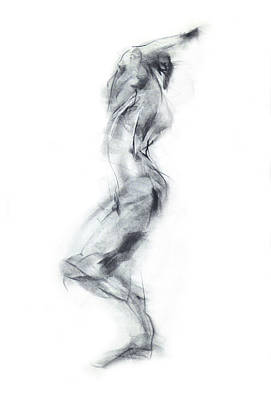Abstract Movement Drawing - Movement - Dancer Iv by Christopher Williams