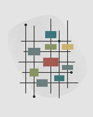 Screen-print Digital Art - Movement - 1 by Finlay McNevin