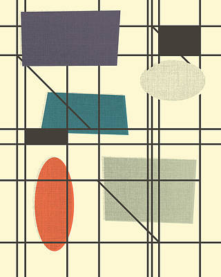 Screen-print Digital Art - Movement - 3 by Finlay McNevin