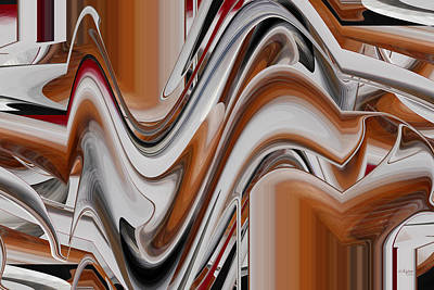 Digital Art - Movement In Slver And Bronze by rd Erickson