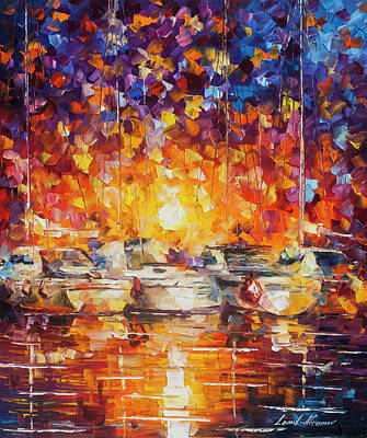 Movement Of The Sea Art Print by Leonid Afremov