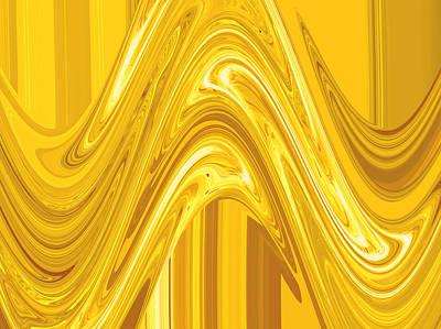 Moveonart Golden Light Wave Original by Jacob Kanduch