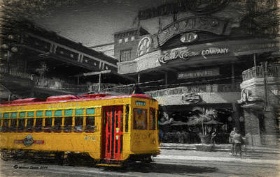 Movico 10 And Trolley Print by Marvin Spates