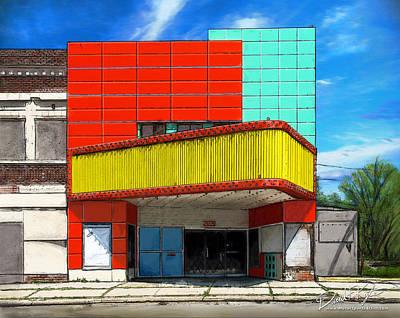 Digital Art - Movie House by David Kyte