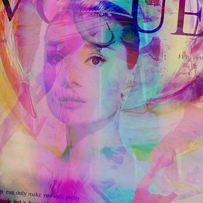 Movie Icons - Audrey Hepburn Vi Art Print by Joost Hogervorst