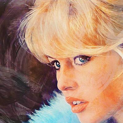 Bardot Painting - Movie Icons - Brigitte Bardot I by Joost Hogervorst