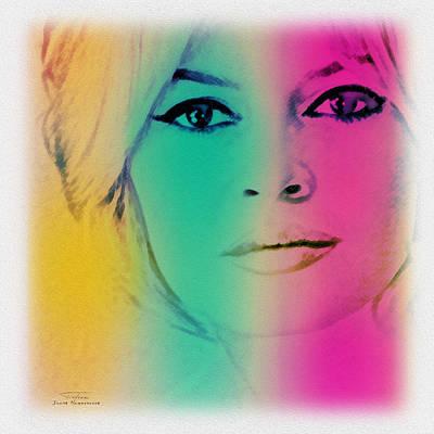 Bardot Painting - Movie Icons - Brigitte Bardot Ill by Joost Hogervorst