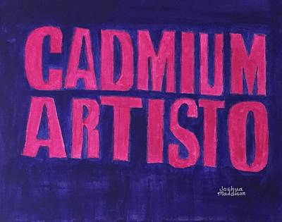Painting - Movie Logo Cadmium Artisto by Joshua Maddison