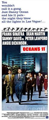 Joey Wall Art - Photograph - Movie Poster For Ocean's 11 by The Titanic Project