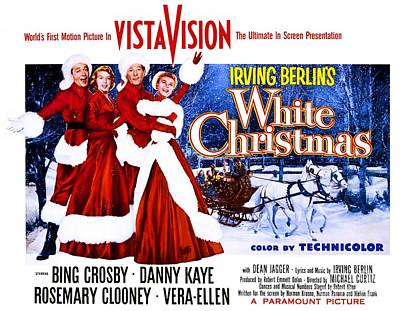 Movie Poster For White Christmas Art Print