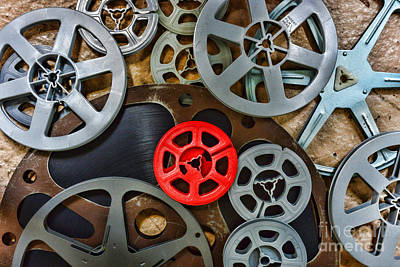 8mm Photograph - Movie Reels by Paul Ward