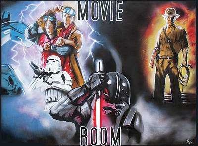 War Production Painting - Movie Room by Jamie Bishop