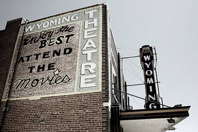 Antiques Photograph - Movie Sign 2 by Marilyn Hunt