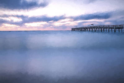 Florida Digital Art - Moving Along The Pier II by Jon Glaser