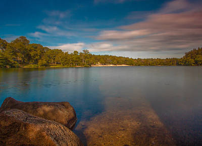 Photograph - Moving Clouds At Sunset At Houghtons Pond by Brian MacLean