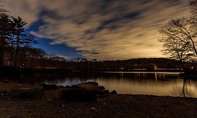 Photograph - Moving Clouds Over The Pond by Brian MacLean