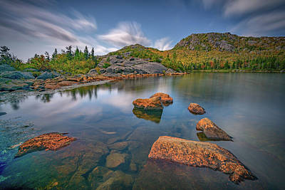 Photograph - Moving Clouds Over Tumbledown Pond II by Rick Berk
