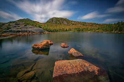 Photograph - Moving Clouds Over Tumbledown Pond by Rick Berk