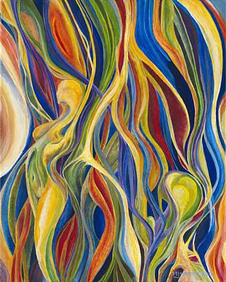 Mark Johnson Drawing - Moving Colour I by Mark Johnson