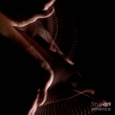 Stroboscopic Photograph - Moving Hands A070535 by Rolf Bertram