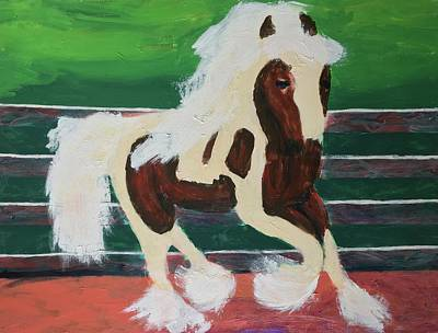 Harness Racing Painting - Moving Horse by Donald J Ryker III