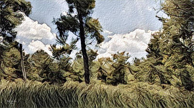 Digital Art - Moving Landscape Hadley Mi by Artful Oasis