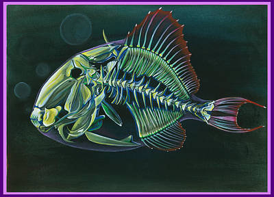 Triggerfish Painting - Moving On by Melanie Imough