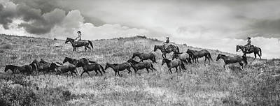 Photograph - Moving The Herd by Fast Horse Photography