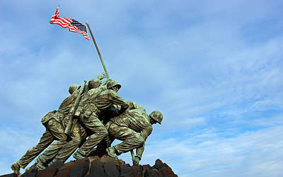 Personalized Name License Plates - Iwo Jima High In The Sky by Cora Wandel