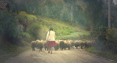 Moving To Greener Pastures Ankawasi Peru Art Print