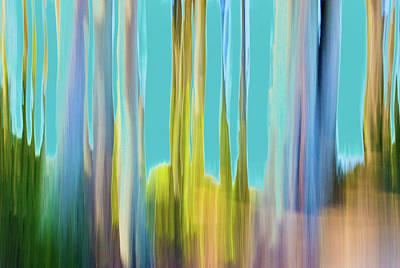 Digital Art - Moving Trees 20 Carry-on Landscape Format by Gene Norris