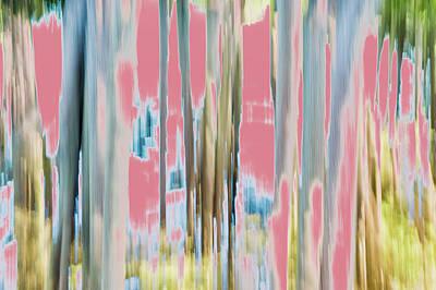 Digital Art - Moving Trees 23 Carry-on Landscape Format by Gene Norris