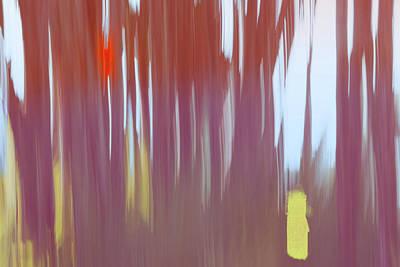Digital Art - Moving Trees 27 Carry-on Landscape Format by Gene Norris