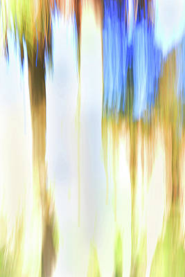 Digital Art - Moving Trees 34 Portrait Format by Gene Norris