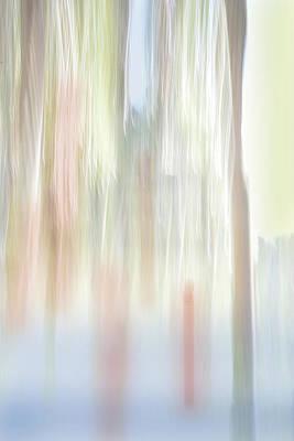 Digital Art - Moving Trees 35 Portrait Format by Gene Norris