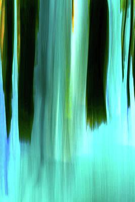 Digital Art - Moving Trees 37-03 Portrait Format 14 By 21 Inch by Gene Norris