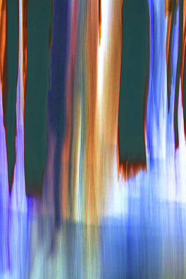 Digital Art - Moving Trees 37-07 Portrait Format by Gene Norris